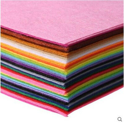 40 Colours Christmas Craft Felt Pack Selection 40 Sheets Wool Mix Size Options