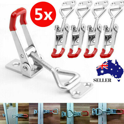 5x Latch Catch  Stainless Steel Cabinet Boxes Handle Toggle Lock Clamp Hasp Tool
