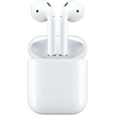Apple Airpods White 2nd Generation MV7N2AM/A w/ Wired Charging Case