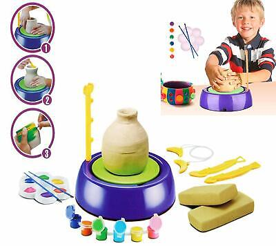 High Quality DIY Pottery Wheel for Kids with Clay Set (Toys for Boy & Girl 7 + )