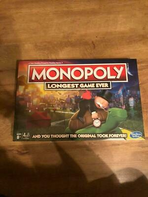 Monopoly The Longest Game Ever Board Game Hasbro Authentic Brand New Rare