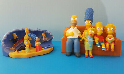 The Simpsons Red Rooster Couch set Mint in Plastic and Hungry Jack's Beach set