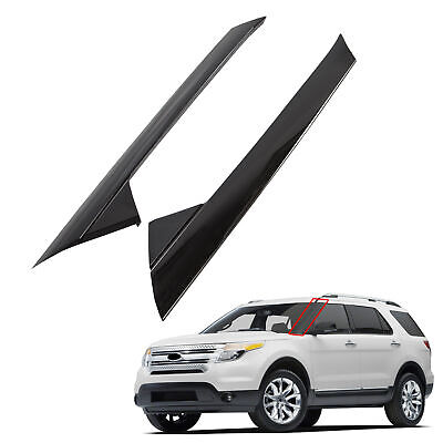 For 11-19 Ford Explorer Windshield Outer Trim Pillar Molding Passenger & Driver