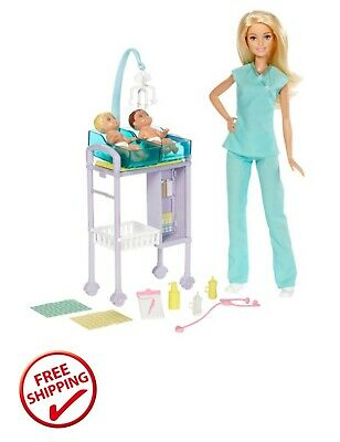 Barbie Careers Baby Doctor Playset with Dolls and Accessories