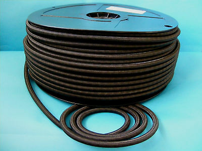 8 Metres of 8mm BLACK Elastic Bungee Shock Cord Rope for Trailer Cover Tie Down