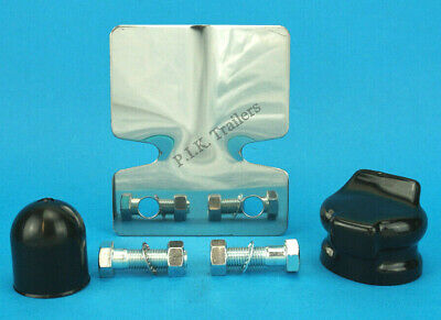 Stainless Steel Bumper Protector & Bolts with Towball & Socket Cover