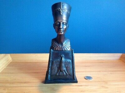 Ancient Egyptian Queen Nefertiti Metal Statue Egypt Decoration