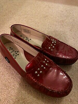 UMI red patent girls shoes designer approx 3.5 UK