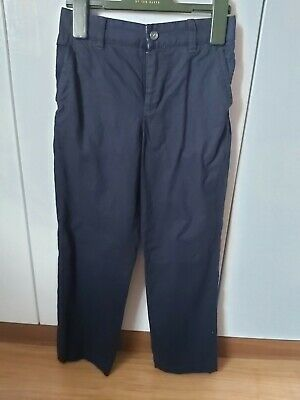 Boys tailored linen trousers Howick age 9-10 navy very smart