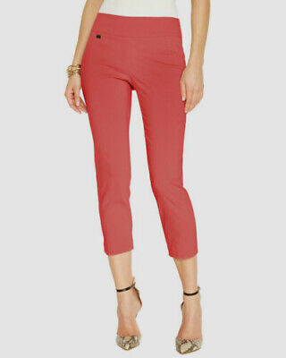 $69 Alfani Women's Orange Tummy-Control Pull-On Capri Pants Size 6