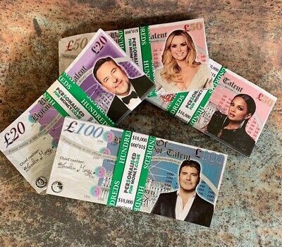 100 Personalised Fake Novelty Bank Notes Dollars Pounds Play Monopoly Money