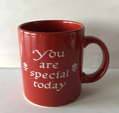 "Waechtersbach Germany Red ""You Are Special Today"" Coffee Mug"