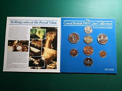UNCIRCULATED THE GREAT BRITISH 1983 COIN COLLECTION SET DECIMAL   (ref 22