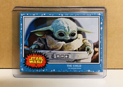 Topps Baby Yoda The Child Star Wars Living Set Card #58 Mandalorian with Sleeve