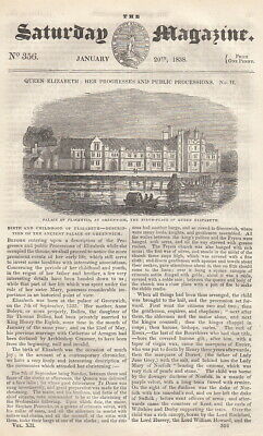 Birth and Childhood of Elizabeth-Description of The Ancient Palace of Greenwich;