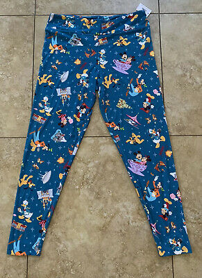 DISNEY PARKS MICKEY MOUSE and FRIENDS LEGGINGS FOR WOMEN (LARGE)– DISNEYLAND NWT