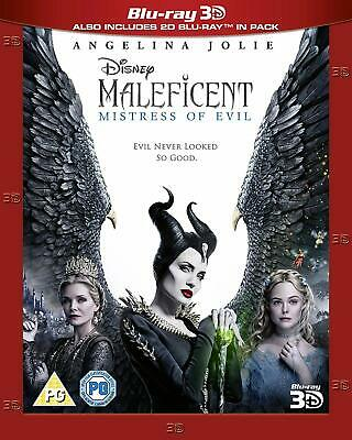 MALEFICENT MISTRESS OF EVIL 3D 2D Blu-ray - Experienced US Seller
