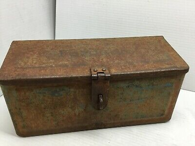 Vintage Fordson Ford Tractor Metal Tool Box Implement