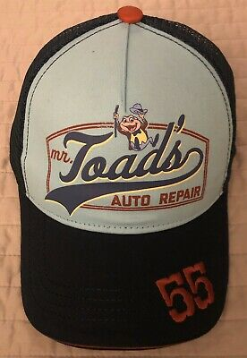 Disney Parks Mr.toad's Auto Repair 1955 Adult Trucker Cap/Hat New