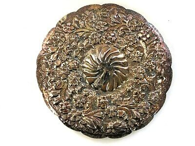 Vintage Saad of Egypt 900 silver sterling wedding mirror hand crafted repousse