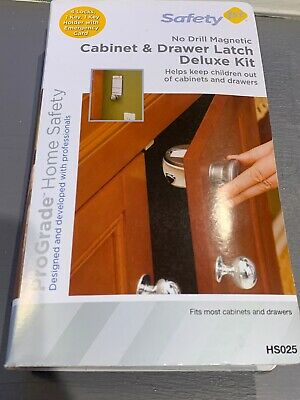 SAFETY 1st No Drill Magnetic Cabinet Drawer Latch Deluxe Kit, Set 4, HS025 NIB