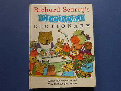 ## Richard Scarry's Picture Dictionary - Vintage Large Hc 1990 ** Rare Title