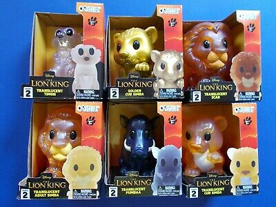 OOSHIES LARGE - THE LION KING SERIES 2 - 6 x LARGE OOSHIE - FULL SET WOOLWORTHS
