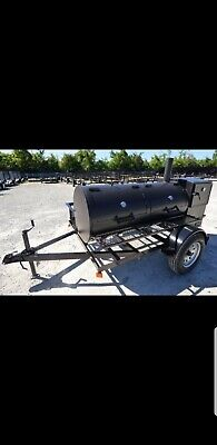 250 Gallon BBQ Trailer Smoker . Great for tailgating! You won't be disappointed!