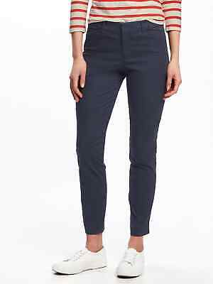 New OLD NAVY Blue Pixie Ankle Length Chino Pants sz 16  #815033  NWT