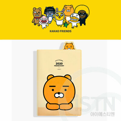 Kakao Friends 2020 My Daily Bookmark Diary Ryan Travel Korea Fancy Gift