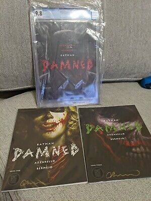 Batman Damned #1-3 CGC 9.8 Signed By Lee Bermejo First Prints Uncensored DC