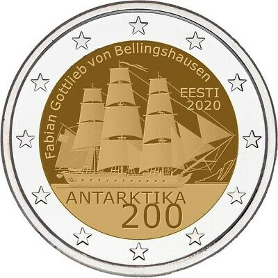 Conmemorativo Coin Estonia 2020 - Antarctic Expedition