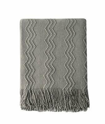 NEW Life Comfort Velvety Ultra Soft Ombre Throw Warm textured Blanket 60x70inch