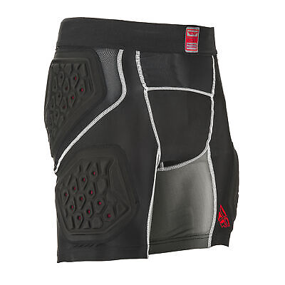 Fly Racing Barricade Compression Mens Body Armour Shorts - Black All Sizes