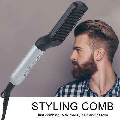 Men Beard Straightening Comb Electric Beard Hair Styling Comb Curling Brush