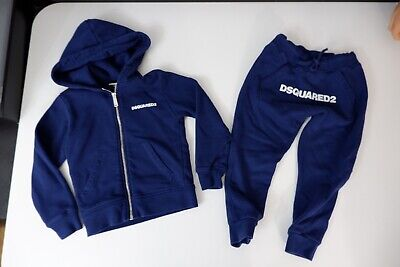 Dsquared2  DSQ Blue Tracksuit Hoodie & Bottoms Age 6 Years Excellent Condition