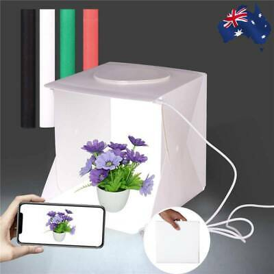 Folding Mini LED Portable Photo Studio Photography Light Tent Backdrop Cube Box!