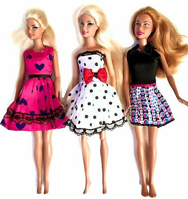 New barbie doll clothes outfit casual dresses summer - 3 outfits.