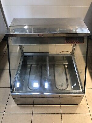 Commercial Cafe restaurant Woodson 2 bay Bain Marie with glass rear doors