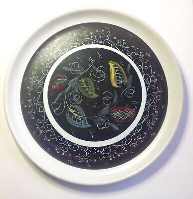 Glynn Colledge Denby Large Plate 10 Inches. Unusual, Black signed.