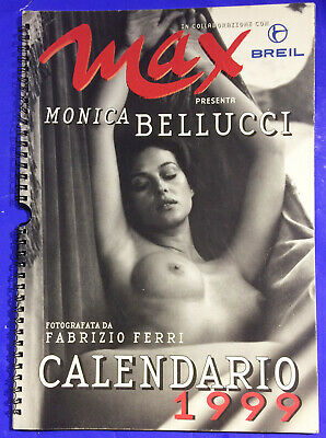 Monica Bellucci MAX Calendario Calendar 1999 photography by  Fabrizio Ferri