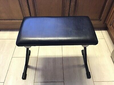 Bespeco Black Folding Metal/Leather Piano/Keyboard Stool/Bench Stage Practice