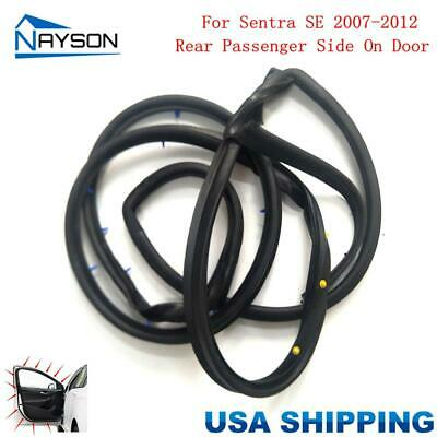 Replacement Door Rubber Seal Weatherstrip Rear Right for Nissan SENTRA SE 07-12