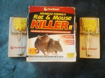 2 Pestshield Rat Traps and 2x 20gr Refill Sachets Rat and Mouse Killer.FREE P&P