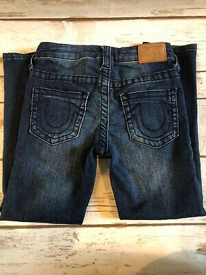 True Religion jeans Girls Size 5 Casey Single End Skinny Gently Pre-owned
