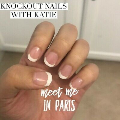 Color Street MEET ME IN PARIS French Manicure 100% Nail Polish Strips