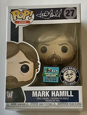Mark Hamill Funko Pop white shirt variant 27 limited edition new star wars