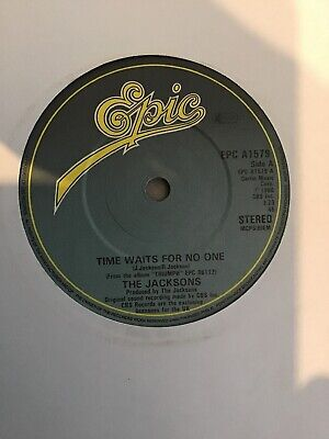 """The Jacksons - Time Waits For No One.   Rare   used  7"""" vinyl record"""