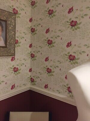 Eaton Stripe Berry Laura Ashley Wallpaper
