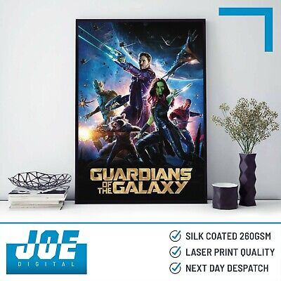 MINIMALIST DESIGN FILM PRINT GUARDIANS OF THE GALAXY 2014 MOVIE POSTER A3 A4